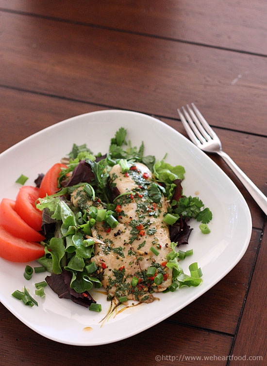 Ginger and Cilantro Baked Tilapia over Mixed Baby Greens ...