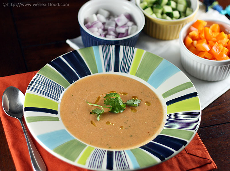Heirloom Tomato Gazpacho » We [Heart] Food