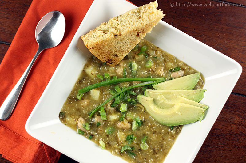 Manzana Chili Verde and Firecracker Cornbread » We [Heart] Food