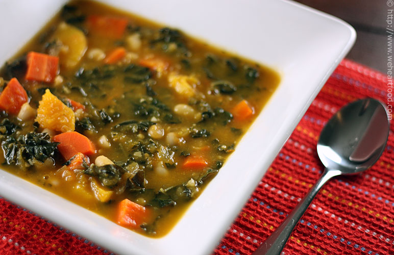 Kale and Roasted Vegetable Soup » We [Heart] Food