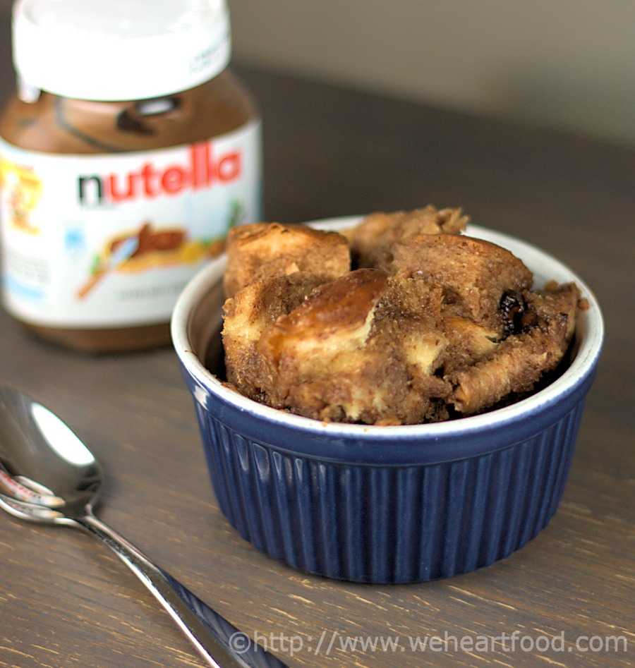 Slow-Cooker Nutella Bread Pudding » We [Heart] Food