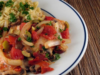 Tilapia with Pimiento Sauce » We [Heart] Food