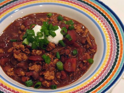 Lisa made this chili from Cooking Light ; it features ground turkey ...