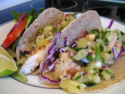 Grilled Mahi-Mahi Tacos with Pineapple Salsa » We [Heart] Food