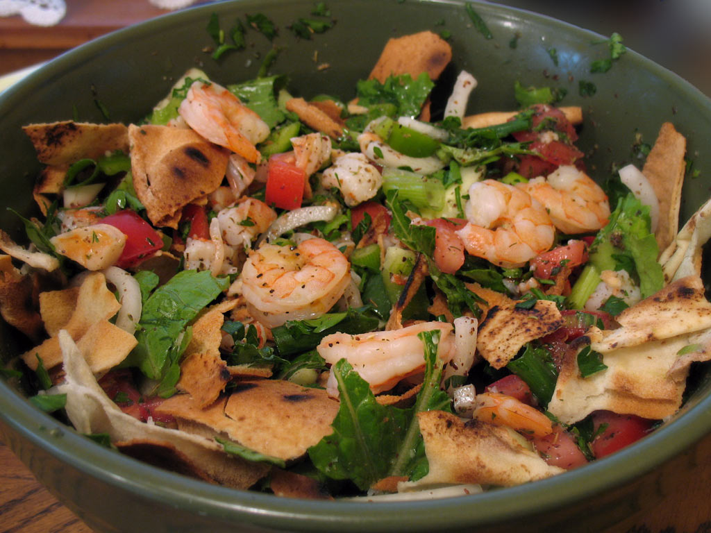 Fattoush with grilled shrimp we heart food for Arabic cuisine names