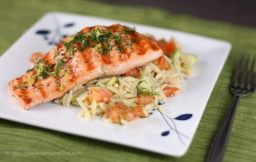 grilledsalmonorzo