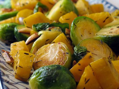 Brussels Sprouts and Golden Beets